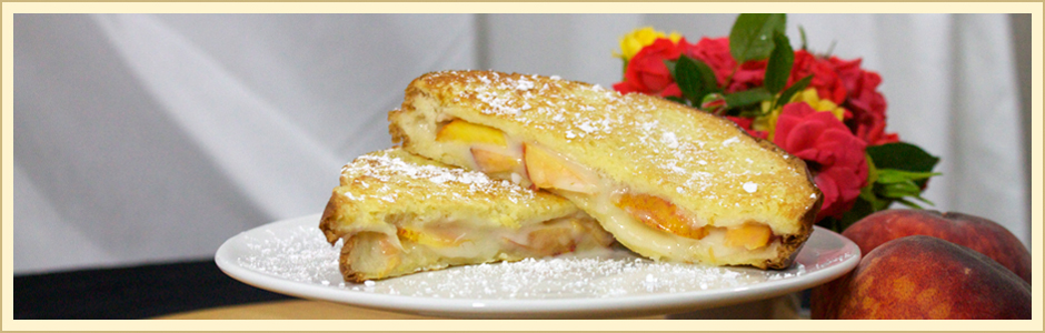 Peach Stuffed French Toast | Kingsburg Orchards